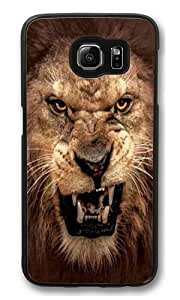 Big Face Roaring Lion Polycarbonate Hard Case Cover for Samsung S6/Samsung Galaxy S6 Black by kobestar