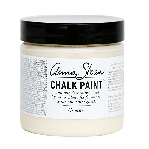 CHALK PAINT (R) by Annie Sloan - Cream (Project Pot - 4oz) – Decorative paint for furniture, cabinets, floors, home decor and accessories – Water-based – Non-toxic – Matte (Ivory Chalk)