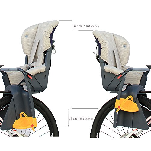 CyclingDeal Bicycle Kids child Rear Baby Seat bike Carrier USA Standard With Adjustable Seat Rest Height by CyclingDeal (Image #7)