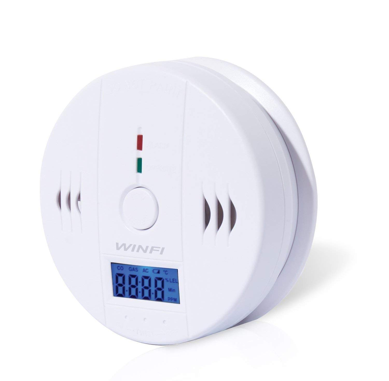 Winfi CO Detector,Carbon Monoxide Gas Detection,Digital Display Carbon Monoxide Alarm with LCD Digital Display,Battery Powered (High-Precision) by Winfi