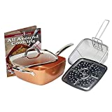 Tristar Products 5 Piece Chef Pan with Glass Lid, Copper