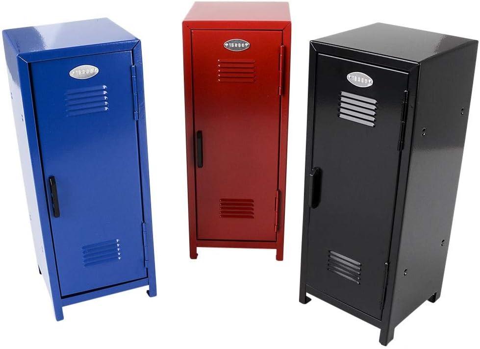 "SRENTA 11"" Kids Steel Metal Storage Locker, Mini Metal Locker with Lock and Key, Safe Storage Kids Toy, Birthday Gifts Toy Gifts for Kids Assorted Colors"