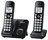Panasonic KX-TGD512B Expandable Cordless Phone with Call Block - 2 Handsets