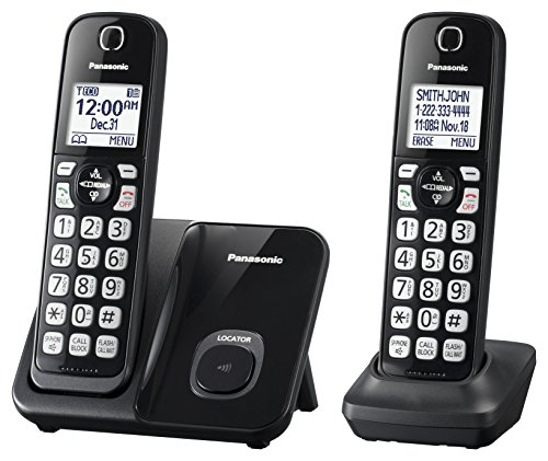 2 X Handset (Panasonic KX-TGD512B Expandable Cordless Phone with Call Block - 2 Handsets)