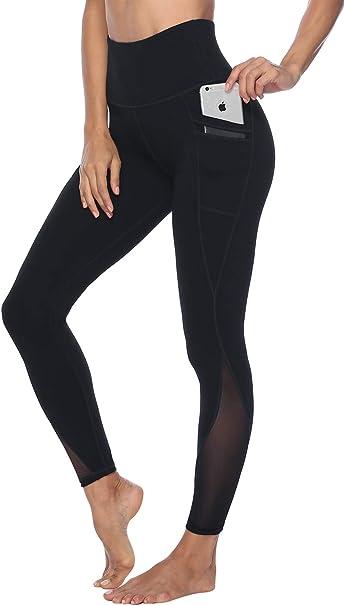 Amazon.com: Persit - Pantalones de yoga de malla con 2 ...