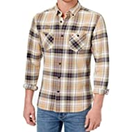 [Sponsored]Tommy Hilfiger Men Small Plaid Custom Fit Button Down Shirt