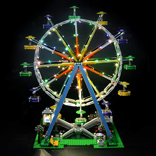 (Briksmax Led Lighting Kit for Ferris Wheel - Compatible with Lego 10247 Building Blocks Model- Not Include The Lego Set)