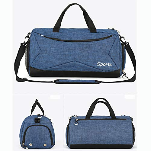 Bolsa y Azul con Hombre Bolsa Tamaño Viaje de Compartimento Deporte Zapatos para Mujer de para Teeoff azul Libre AwqBx1B