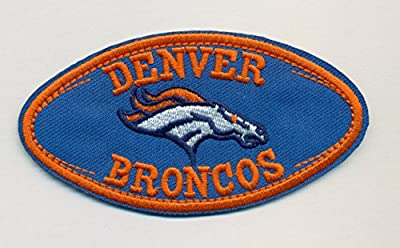 Denver Broncos Football Embroidered Iron On Patches Hat Jersey 3 1/2 x 2