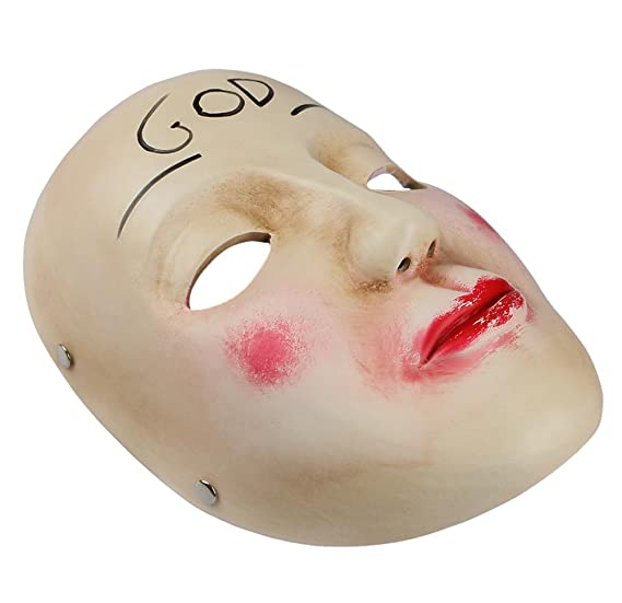 Amazon.com: Gmasking Resin The Purge Anarchy James Sandin God Mask Replica+Gmask Keychain: Toys & Games