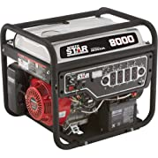 NorthStar Portable Generator - 8000 Surge Watts, 6600 Rated Watts, Electric Start, EPA and CARB-Compliant