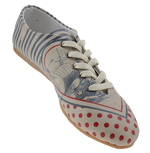 GOBY Cream Cream Ballet Colourful Women's Beige Flats Colourful 6IxrnY6qwC