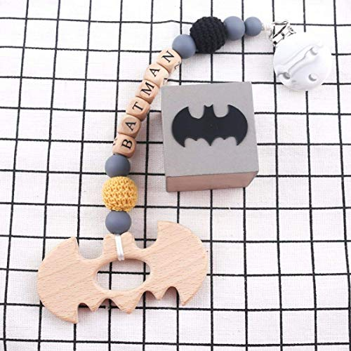 Biter teether Baby Teether Batman Pacifier Chain Silicone Cilp Teething Toddler Now Born Gift -