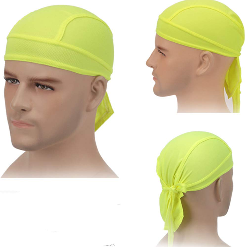 2 Pack Zerich 2 Pack Cool Biker Lined Skull Cap/Breathable Riding Hiking Motorcycle Head Wrap/#7838