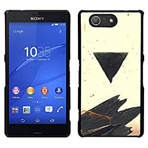 // PHONE CASE GIFT // Duro Estuche protector PC Cáscara Plástico Carcasa Funda Hard Protective Case for Sony Xperia Z3 Compact / Negro Triángulo /