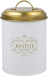 """Home Basics""""Home Made Freshly Made and Natural Food"""" Cuisine Collection Tin Canister (Biscuits Canister)"""