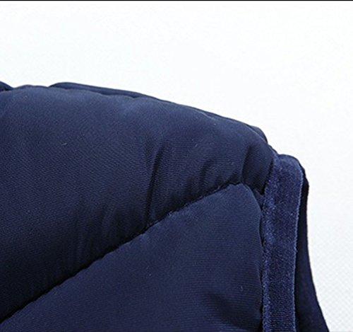 Imbottiti Cerniera Cappotto Del Basamento Collare Giù Stampati Con Bodywarmer Senza Cappuccio Trapuntato Top Autunno Tasche Cappuccio Blu Maniche Corpetti Giacca Uomo Uomini Con Gilet Gilet Gilet Dell'inverno HxCqawW7Y