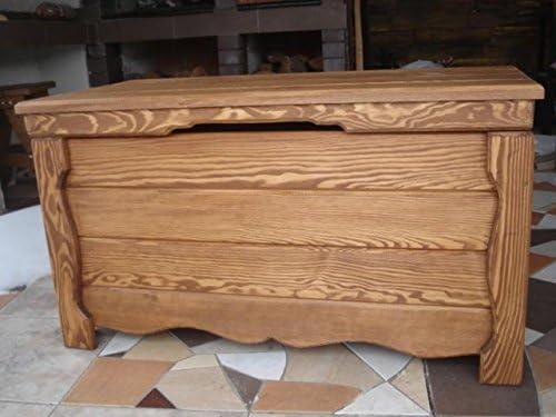 Decocraft Manta de Madera Caja Mesa de café Trunk Vintage en el Pecho de Madera Ottoman (GO3): Amazon.es: Hogar