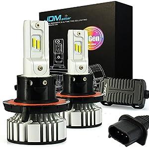 JDM ASTAR Newest Version 7th Generation 8000 Lumens Extremely Bright H13 9008 LED Headlight Bulbs Conversion Kit, Xenon White