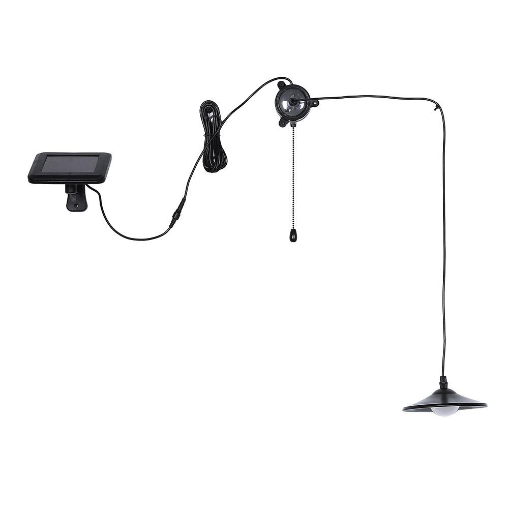 Whitelotous Solar Energy Pendant Lamp Shed Light Reading Bar Counter Hanging Light with Remote Controller