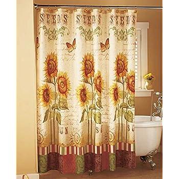 Amazon Sunflower Shower Curtain Home Kitchen