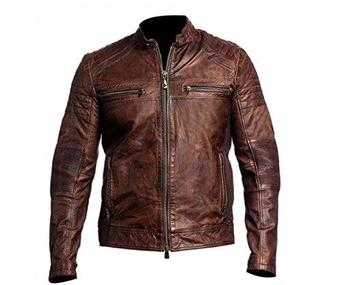 Vintage Leather Biker Jacket - 2