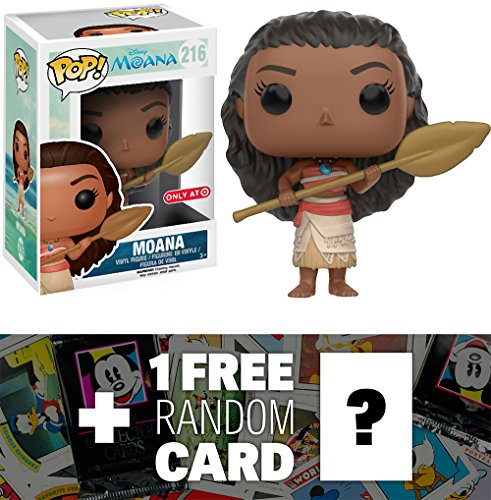 Moana w/ an Oar (Target Exclusive): Funko POP! x Disney Moana Vinyl Figure + 1 FREE Classic Disney Trading Card Bundle - Target Moana