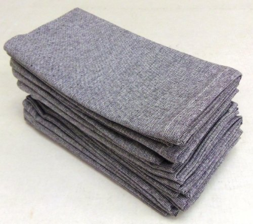 Cotton Craft Napkins - 100% Cotton Napkin (Set of 12) - Grey - 16x16 Inches. Hand Crafted and Hand Stitched table linens are lovingly hand woven by skilled artisans using centuries old weaving techniques