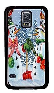 Diy Fashion Case for Samsung Galaxy S5,Black Plastic Case Shell for Samsung Galaxy S5 i9600 with Howdy Neighbour