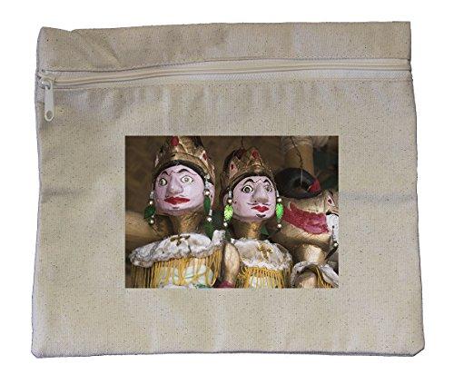 Canvas Zipper Pouch Tote Bag 10