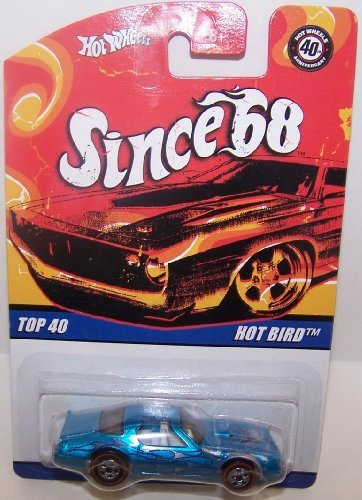 Hot Wheels Since '68 Series '57 Chevy White Wall 5 Spoke Drag Mags & Flamz Black End 40 Year Mark 1/64 Collector