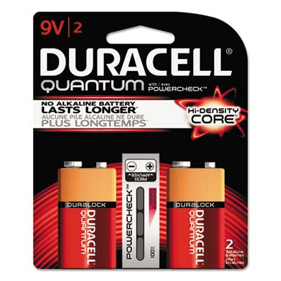 Duracell Quantum Alkaline Batteries with Duralock Power Preserve Tech, 9V, 2/Pk, 36PK/CT by Duracell