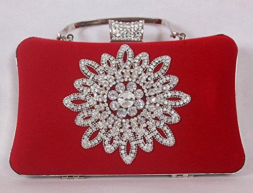 bride hand Violet trade Diamond dress party hand dress Ladies handbag gules bag bag Diamond Foreign vpxwOqv