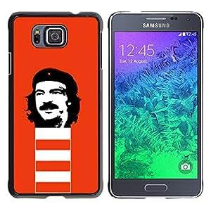 TECHCASE**Cubierta de la caja de protección la piel dura para el ** Samsung GALAXY ALPHA G850 ** Che Guevara Revolution Portrait Communism