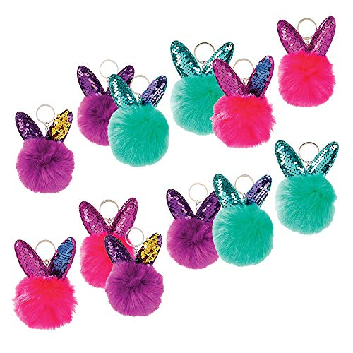 Pom Pom Bunny Keychain - Set of 12 3.75