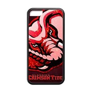 Generic Custom Extraordinary Best Design NCAA Alabama Crimson Tide Team Logo Plastic and TPU Black and White Case Cover for iPhone5C hjbrhga1544
