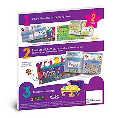 Craft-tastic Jr - Treasure Sticker Puzzles - Includes 2 Sticker Stories with Clues, Hidden Surprises, & More!: Toys & Games