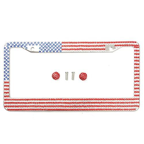 usa flag license plate frame - 5