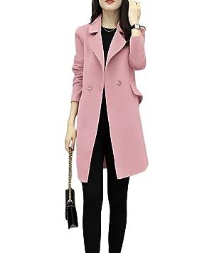 Abrigo Elegante Larga De Invierno Lana Yonglan Mujer Prendas Ipw8xqS74