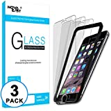 Novaeast iPhone 8 Plus, iPhone 7 Plus, iPhone 6S Plus, iPhone 6 Plus Screen Protector [5.5 inch](3 Pack) Tempered Glass with Easy Installation Frame, Lifetime Replacement