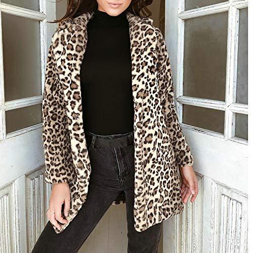 Fausse Sweat Itisme Femmes Femme Dames Chaud Pull En 13 Imprimer Peluche Jaune Revers Fourrure D'hiver Mode Jumper Leopard Manteau Top 848qxwr7