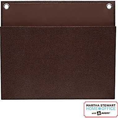 """Martha Stewart Home Office with Avery Large Shagreen Pockets, 12"""" x 10-1/4"""" Brown"""