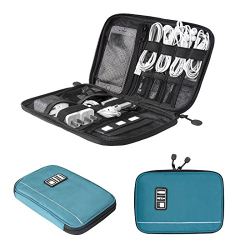 BAGSMART Travel Universal Cable Organizer Electronics Accessories Cases For Various USB, Phone, Charge and Cable, Dark - Specialized Electronics