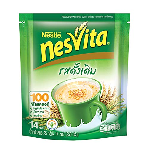 Nesvita Instant Breakfast Drink Original Plus Fiber Formula 342g. 26g.x14 Sachets /Pack : Instant Cereal Milk Drink Plus Fiber 3.2% Original Flavor Benefits
