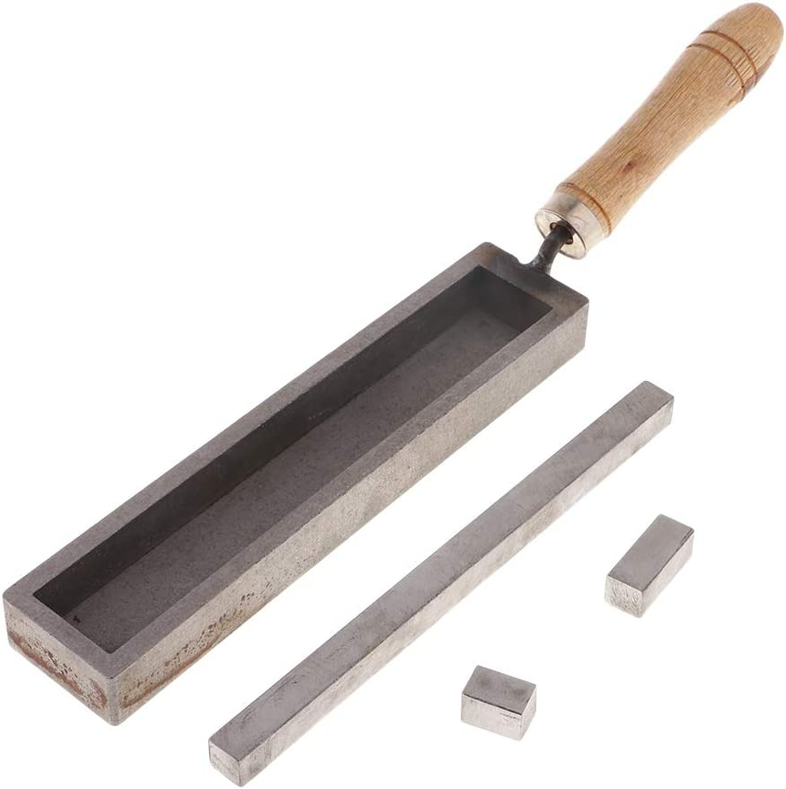 Molde de Hierro para Fundir, Fundir Oro Plata Cobre Metal Precioso 180x32x20mm - 180x32x20mm