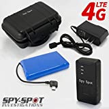 Spy Spot 2019 New 4G LTE GL300MA Portable GPS Tracker with Real Time Live Locator, Includes Large Extended Battery and Magnetic Weatherproof Case