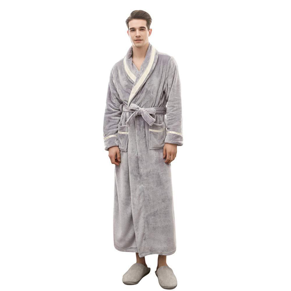 MGQ Bathrobe for Men and Women, Super Soft Flannel Bath Robe Luxurious Spa Robe