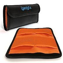 iGadgitz 4 Pocket Lens Filter Bag Pouch Wallet Case For SLR & DSLR Cameras