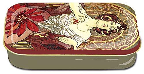 Fridolin 19427Art Nouveau Jacqueline Mini Metal Box 10x 6.2x 2cm, Multi-Coloured