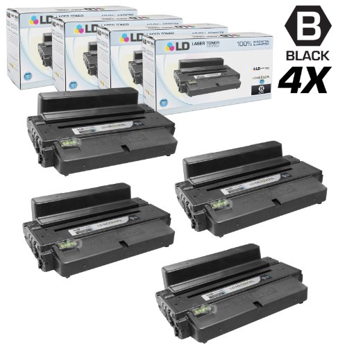 LD © Compatible Samsung MLT-D205L Set of 4 High Yield Black Toner Cartridges for Samsung ML and SCX Printer Series